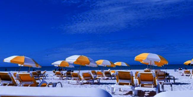 全美最佳海灘第五名清水海灘(Clearwater Beach)。(取自TripAdvisor網頁)