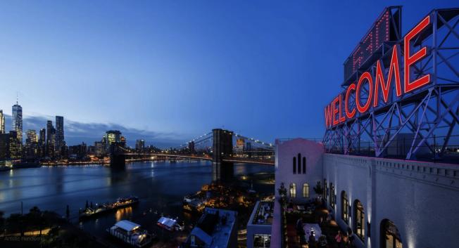紅色的Welcome標誌取代Watchetower成為新的景觀。(取自panorama網站)