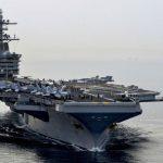 美航母艦長求援信 國防部長艾思博:還不用撤離