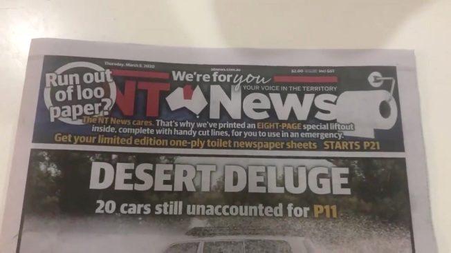 """澳洲卫生纸之乱 小报加印8页""""厕纸""""供人应急"""