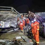 〈圖輯〉泉州隔離旅館倒塌施救中 事發前曾施工