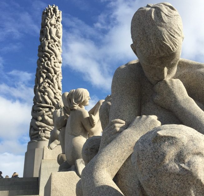 Gustav Vigeland,1869-1943裸體雕塑公園。(圖:作者提供)