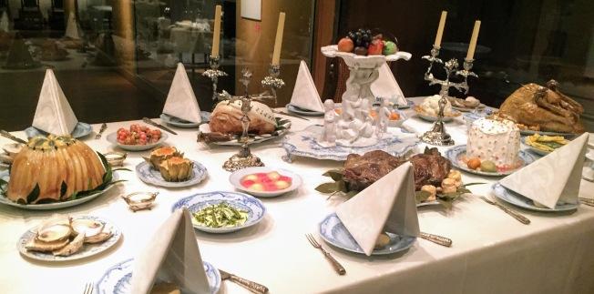 國家民俗館英國盛宴的擺桌。(圖:作者提供)