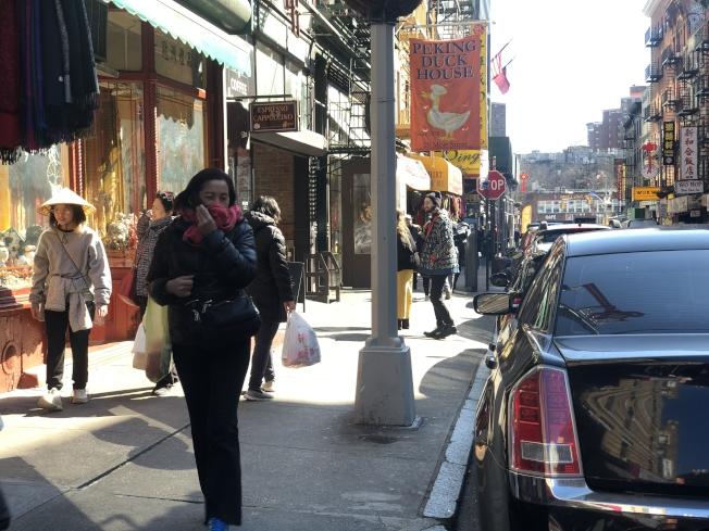 曼哈頓一天發生兩起針對亞裔的攻擊案件。(記者張晨/攝影)