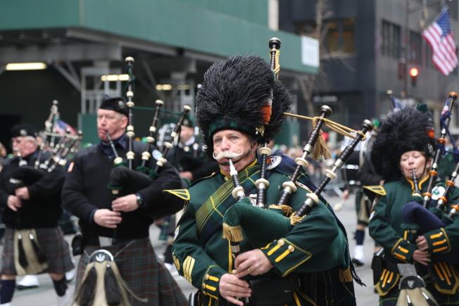 紐約市聖派翠克大遊行已有258年歷史。(記者洪群超/攝影)