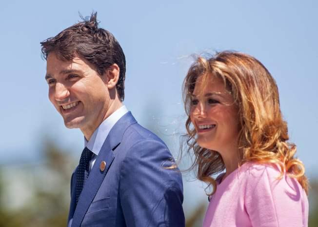 加拿大總理杜魯多夫人蘇菲訪英後確診感染新冠病毒,杜魯多也自我居家隔離。(Getty Images)