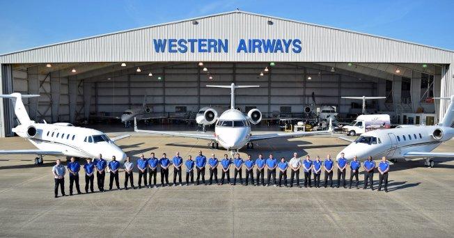 西方航空公司總部設在糖城。(Western Airways臉書)