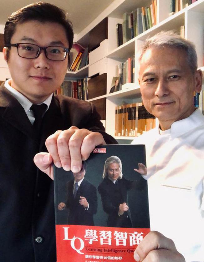 講師戴維思(Davis Woo)(見圖右) 和Sam記憶冠軍(左)
