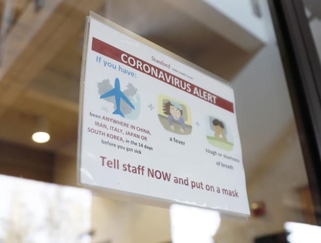 史大張貼告示,提醒學生,一旦出現新冠肺炎症狀,立即通知校方。(取自史大官網)