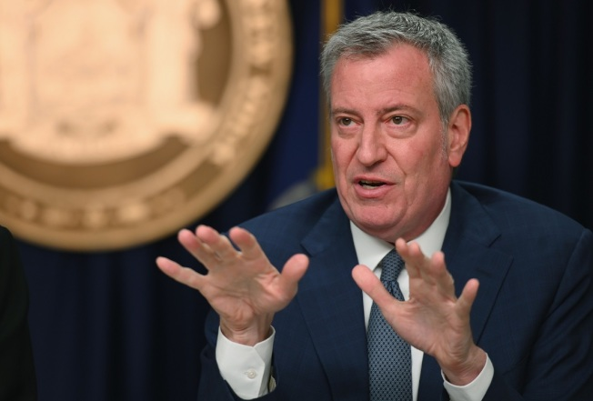 紐約市長白思豪。(Getty Images)