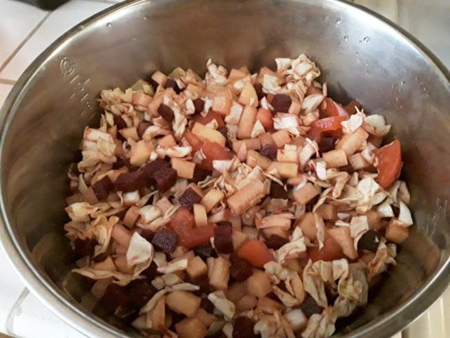 甜菜馬鈴薯拌麵