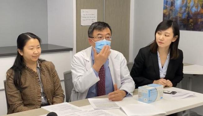 戴眼鏡的人正確配戴口罩時,眼鏡不會起霧。(記者牟蘭/攝影)