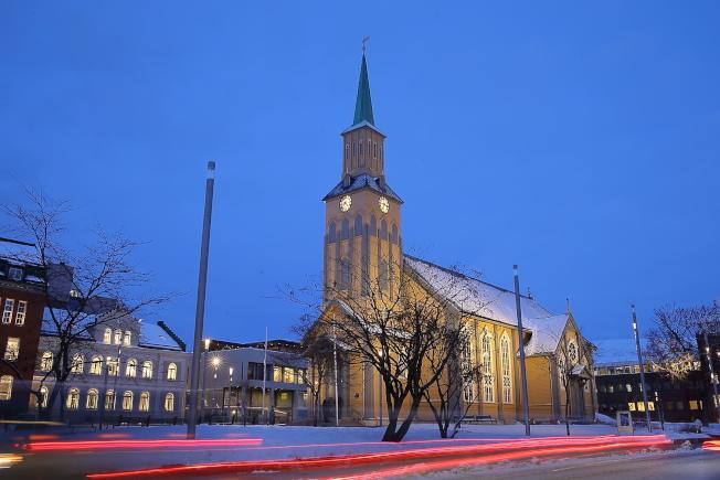 已經超過150年歷史的特羅姆瑟主教座堂。(記者陳睿中/攝影)