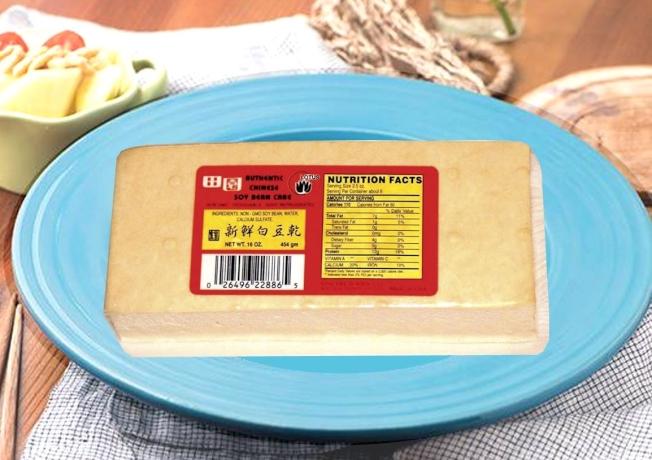 田園食品公司制造的「新鮮白豆乾」