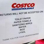 好市多新政策:衛生紙和大米等 不受理退貨