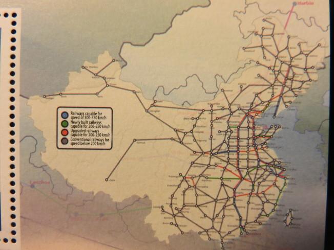 中國全國鐵路分布圖。(圖:作者提供)