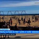 海灘、公園都是人 洛縣強行關閉