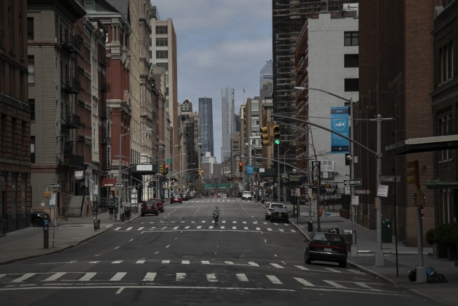 紐約市府表示,全市四區將從27日(周五)起對部分路段禁止機動車通行。(美聯社)