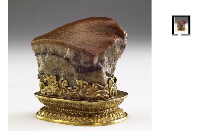 台北故宮三寶之一的「肉形石」,同樣可在Google Arts & Culture上欣賞。(取材自Google Arts & Culture)