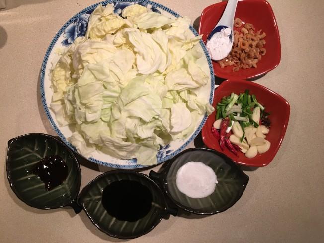 麻辣手撕高麗菜材料