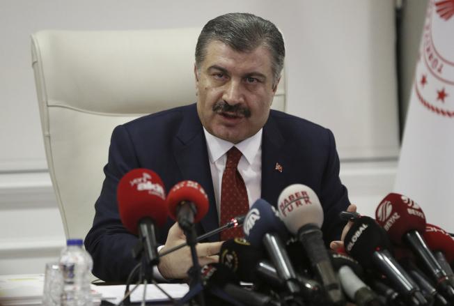 土耳其衛生部長克扎。(美聯社)