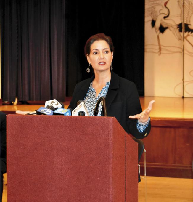 屋崙市長薛麗比認為總統川普的言行讓她非常失望。(記者黃少華/攝影)