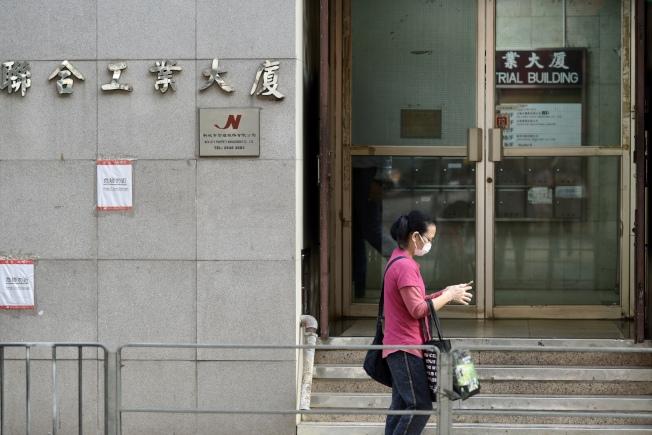 香港黃竹坑超百人派對再多1人確診,累計增至5宗。圖為該派對聚集地的工廈。(中通社)