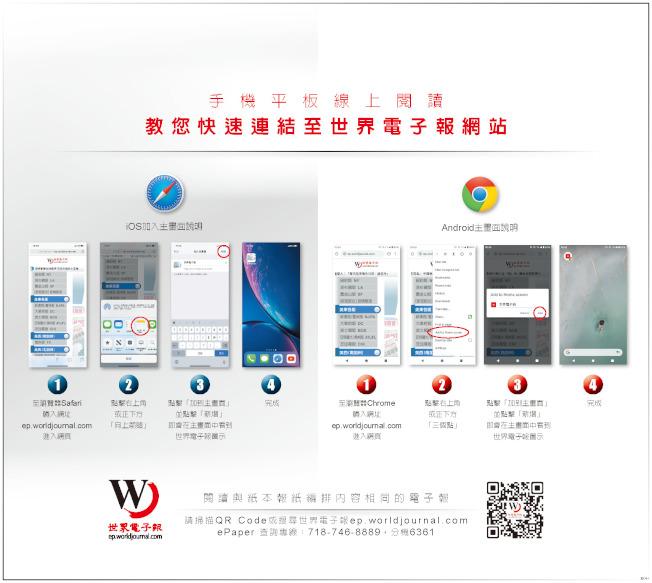 使用世界電子報ePaper,請跟著下面的圖示教學四步驟。