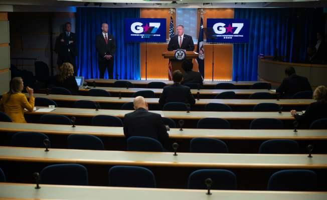 美國國務卿龐培歐(Michael Pompeo)25日舉行記者會。(Getty Images)