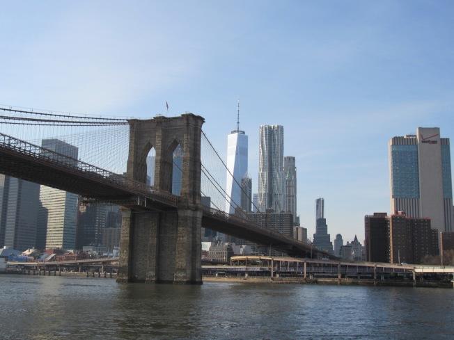 登波可看到布碌崙大橋、曼哈頓天際線,且離曼哈頓僅有一橋之隔,地理位置優越。(記者顏嘉瑩/攝影)