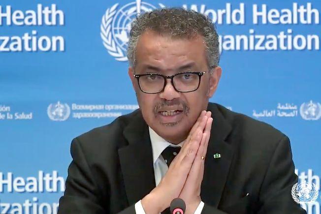 世界衛生組織秘書長譚德塞23日記者會上表示,新冠肺炎疫情顯然正在「加速」中;但也表示,仍有可能將疫情的「發展軌跡改變」。(Getty Images)