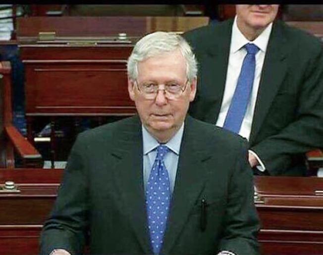 參院兩黨領袖和白宮25日初步達成2兆元的刺激經濟法案。參院準備午夜投票。(Getty Images)