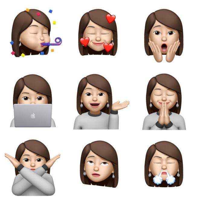 全新9款Memoji貼圖,表達情緒更貼切。(記者黃筱晴╱攝影)