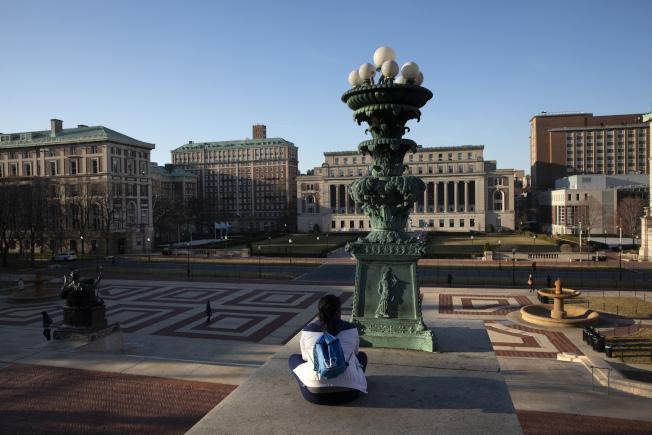 紐約多所大學取消今年畢業典禮。圖為哥倫比亞大學校園。(美聯社)