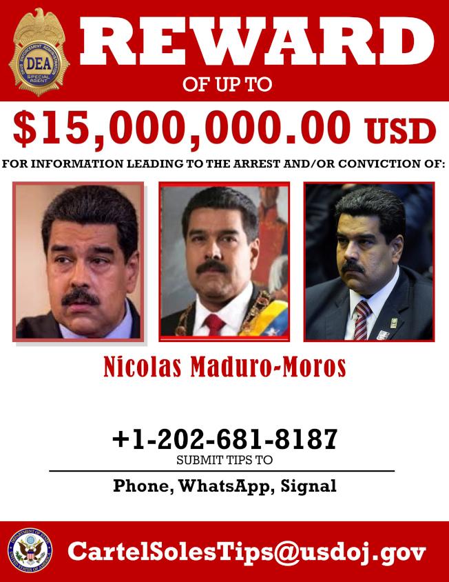 美國起訴委內瑞拉總統馬杜洛。(美聯社)