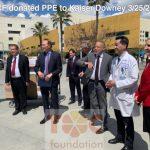 凱撒唐尼醫療中心 獲華人捐贈醫用物資