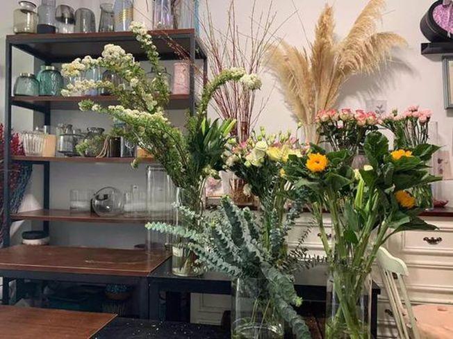 夏詩重新開門的花店。(取材自北京青年報)
