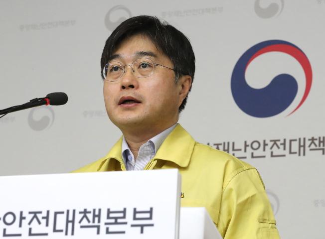 南韓保健福祉部公共衛生政策主任尹泰鎬。(歐新社)