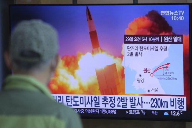 北韩再射2弹道飞弹 本月第4度 落入日本专属经济区外