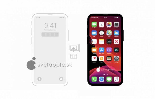 有科技網站從iOS 14代碼中發現一張疑似iPhone 12的示意圖。(取材自svetapple.sk)