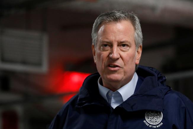 紐約市長白思豪(Bill de Blasio)。(路透)