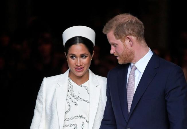 梅根、哈利王子。(路透資料照片)