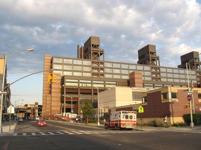 八旬老婦因被指沒保持社交距離,於布碌崙Woodhull醫院遭人推倒在地致死。(取自維基百科)