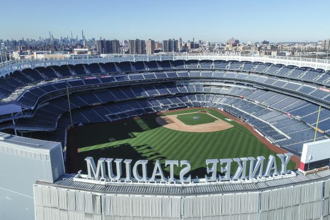 就算新球季開打,處於重災區紐約的洋基球場恐怕暫時也無法使用。(美聯社)