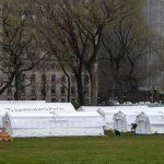 〈圖輯〉紐約州單日激增237死  中央公園搭建野戰醫院