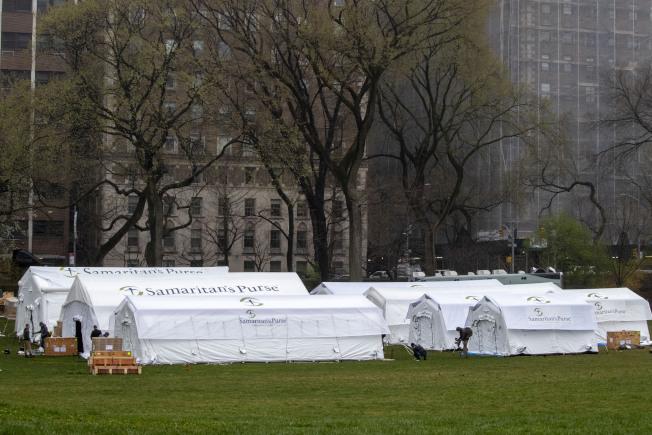 昔日令紐約客驕傲的景點中央公園,現成為緊急救命的據點。美聯社