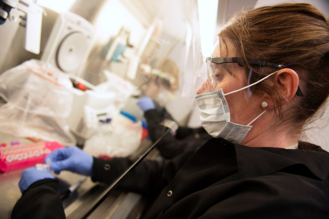 明尼蘇達大學的臨床科學家卡納楚正在與同仁進行治療新冠肺炎的老藥新用奎寧的臨床試驗。(路透)