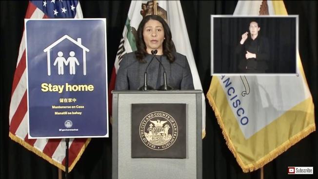 市長布里德認為舊金山需要聯邦和加州更多資源來幫助遏制Laguna Honda醫院的新冠肺炎疫情。(舊金山市府視頻直播截圖)