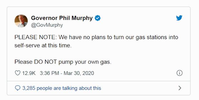州長墨菲以推特表態。(取自推特)