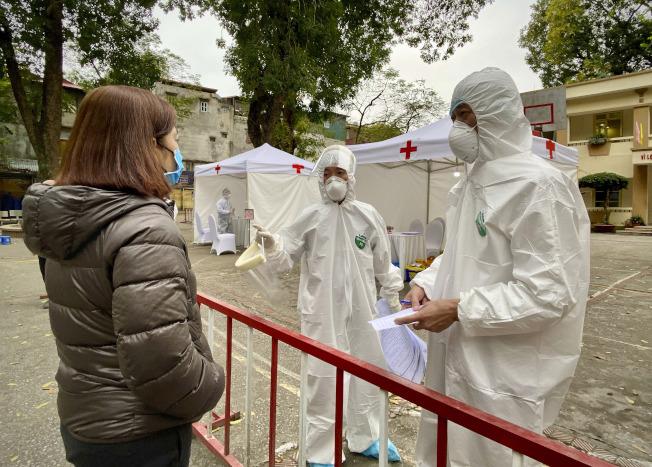 越南4月1日起全國隔離15天抗疫。(美聯社)